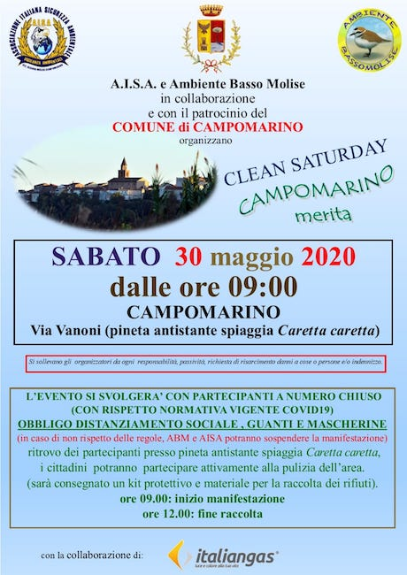 locandina clean saturday campomarino