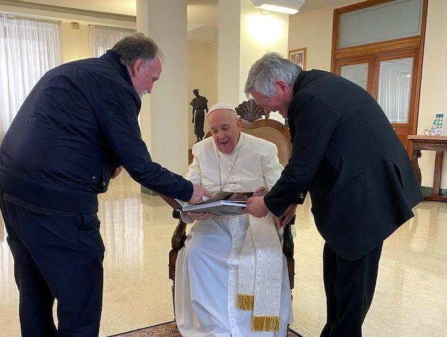 de luca, don benito giorgetta e papa francesco