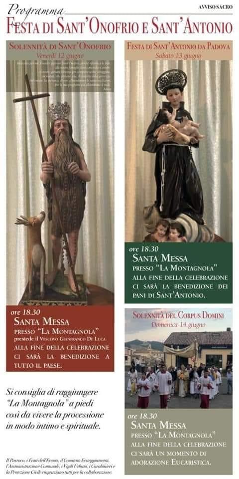 festa sant'onofrio 12 giugno 2020