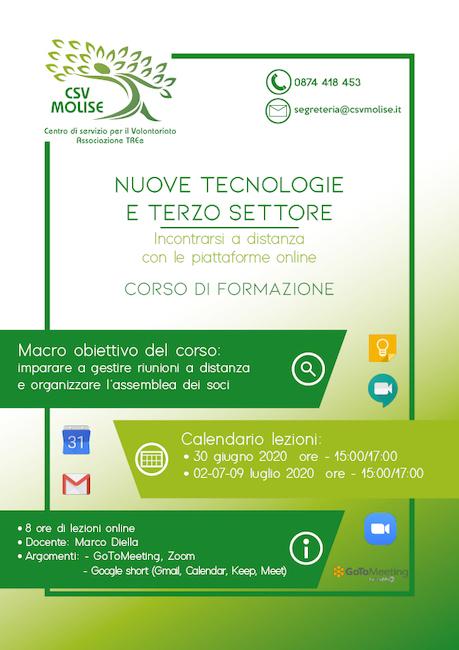 locandina corso piattaforme web