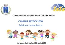 Campus Estivo 2020 ad Acquaviva Collecroce