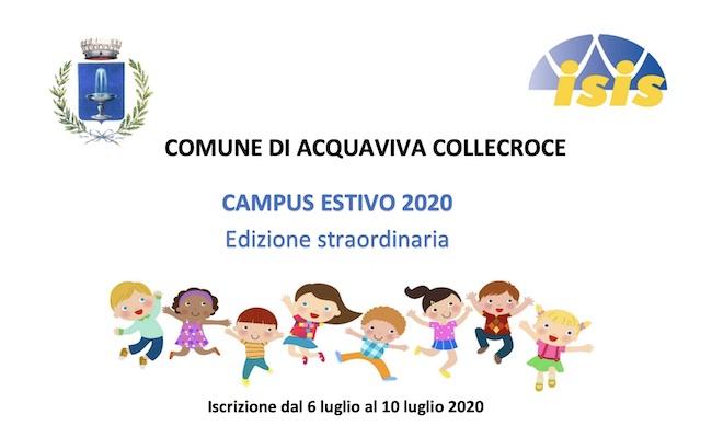 Campus Estivo 2020 ad Acquaviva Collecroce