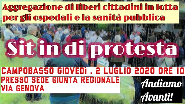 sit-in protesta 2 luglio 2020