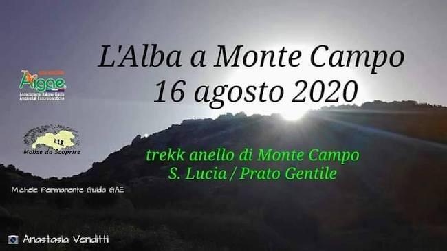alba monte campo 16 agosto 2020