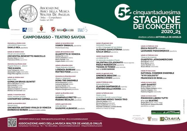 52° stagione concerti Campobasso
