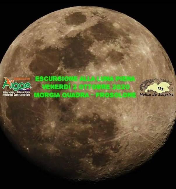 escursione luna piena 2 ottobre 2020