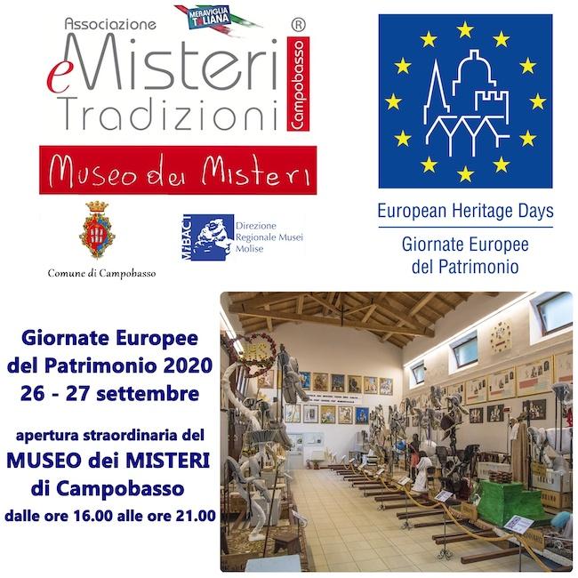 Giornate Europee del Patrimonio 2020 Museo dei Misteri Campobasso