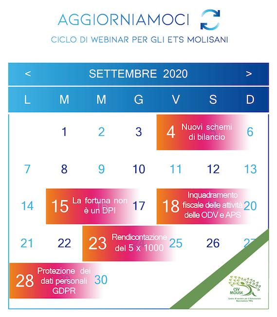 locandina calendario corsi