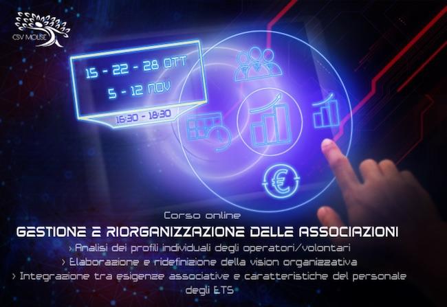 corso gestione riorganizzazione associazioni