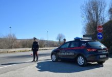 posto blocco Carabinieri Ripalimosani