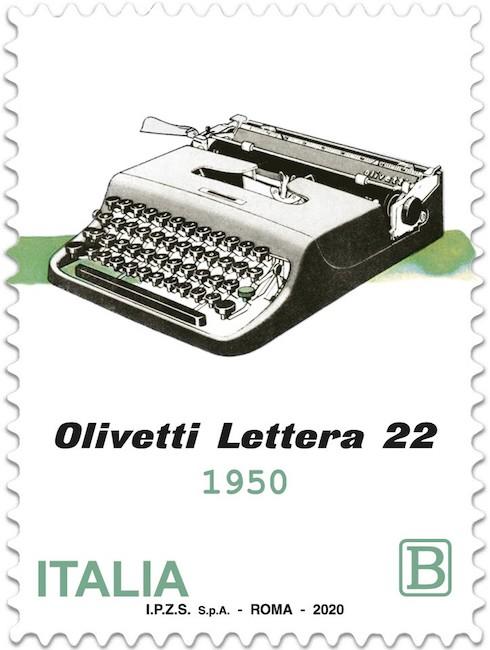 francobollo olivetti lettera 22