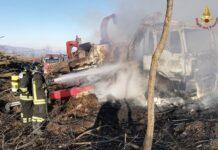 isernia incendio macchina agricola