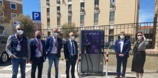 inaugurazione colonnina elettrica termoli