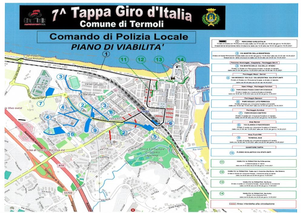 viabilità giro d'italia termoli