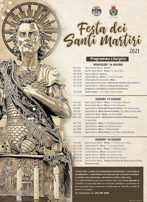 festa santi martiri venafro 2021