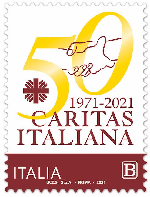 francobollo 50 Caritas