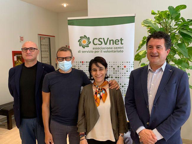 Esecutivo CSVnet - Petrecca, Bucchi, Tommasini, Paccosi