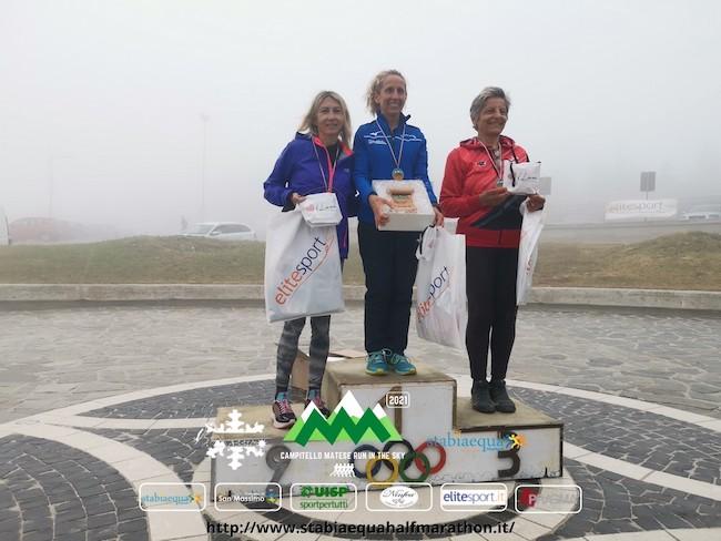 podio Femminile - Campitello Matese Run in the Sky 2021