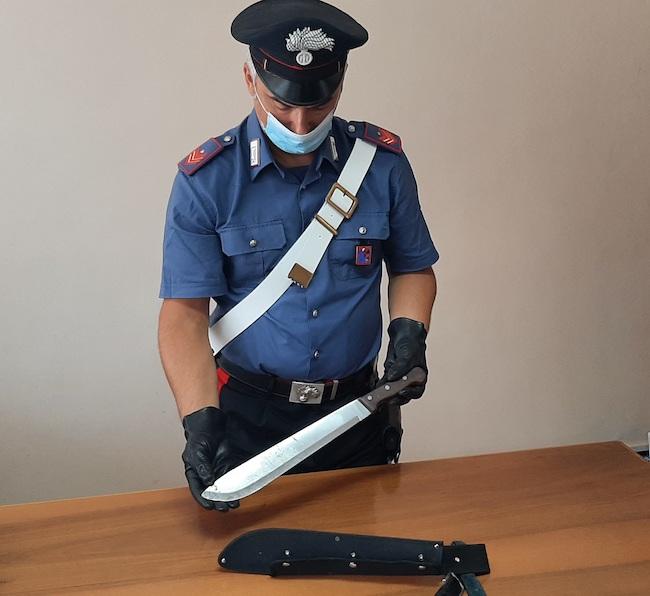 machete sequestrato