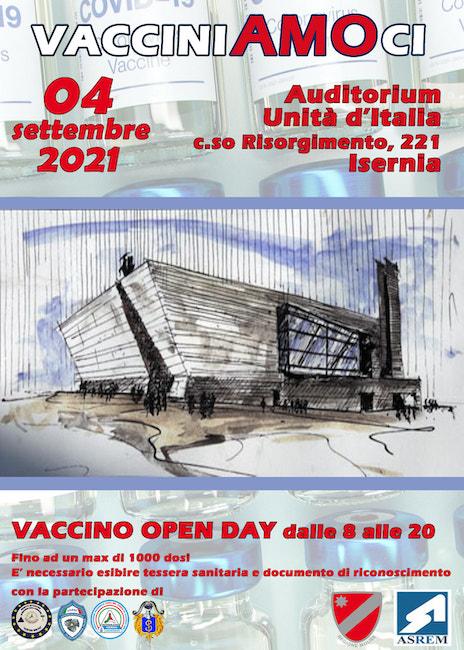 vaccino open day 4 settembre 2021